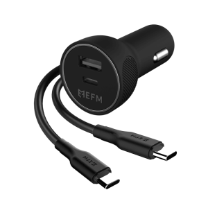 39W Dual Port Car Charger with Type-C to Type-C Cable