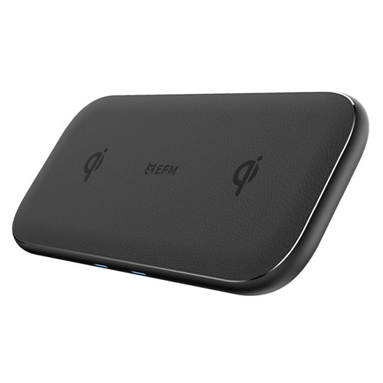 15W Dual Leather Wireless Charge Pad