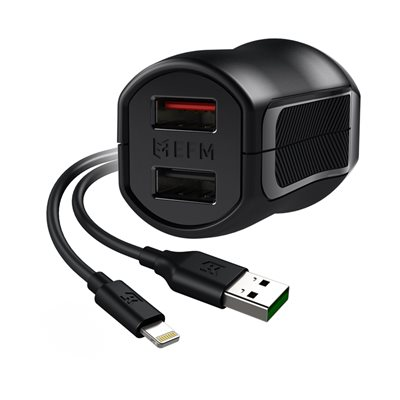 Dual Wall Charger with Charge & Sync USB to Lightning Cable