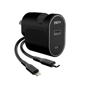 30W Dual Port Wall Charger with Lightning Cable